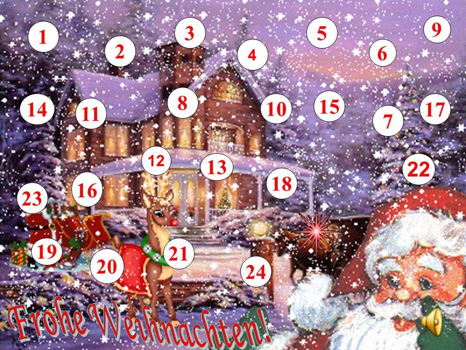 3 5 9 1 2 4 6 8 14 10 15 17 11 7 12 13 22 18 16 23 19 21 20 24 Frohe Weihnachten!