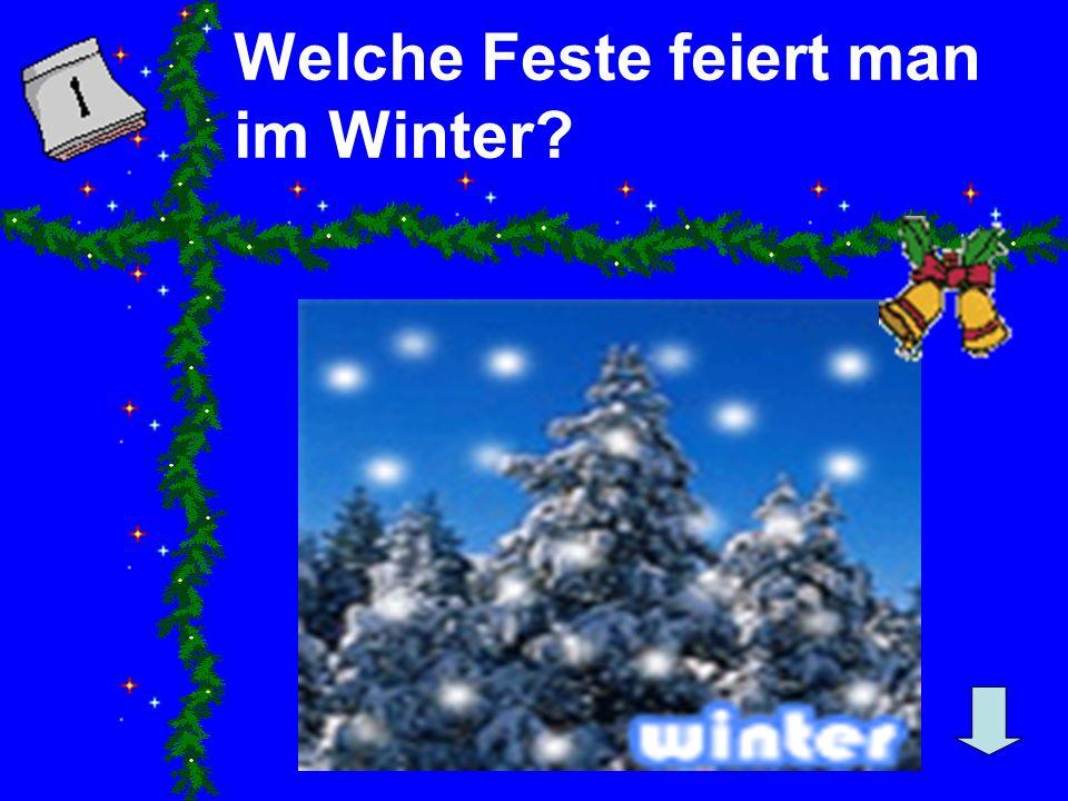 Welche Feste feiert man im Winter