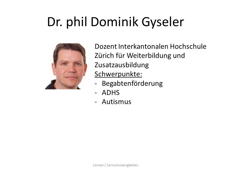 Dr. phil Dominik Gyseler