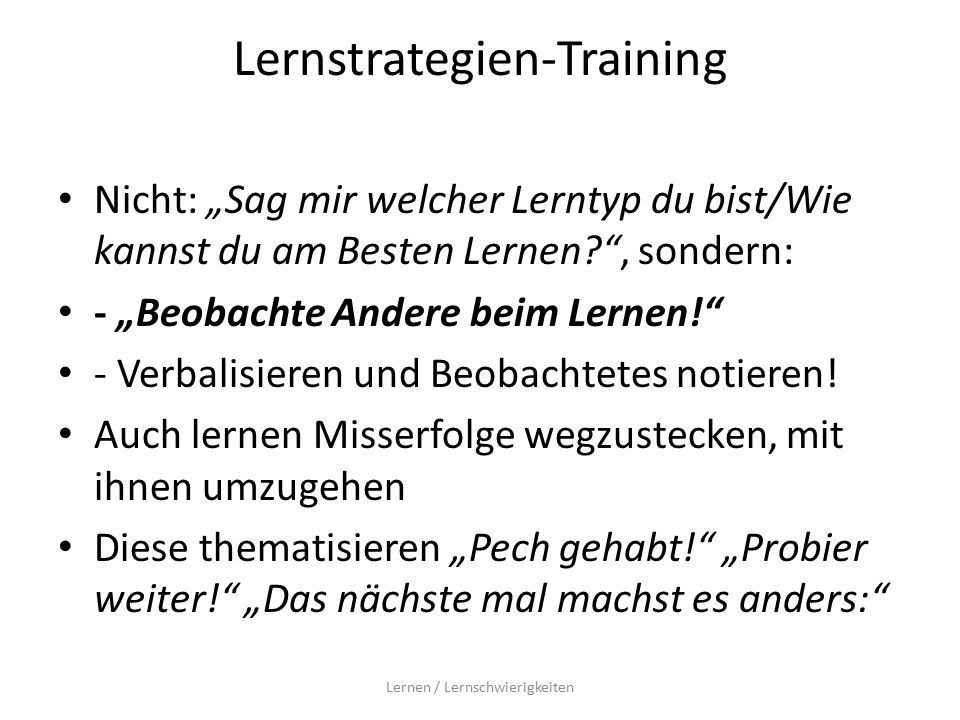 Lernstrategien-Training