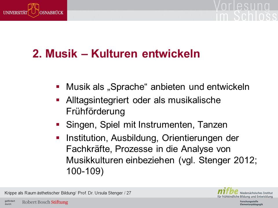 2. Musik – Kulturen entwickeln