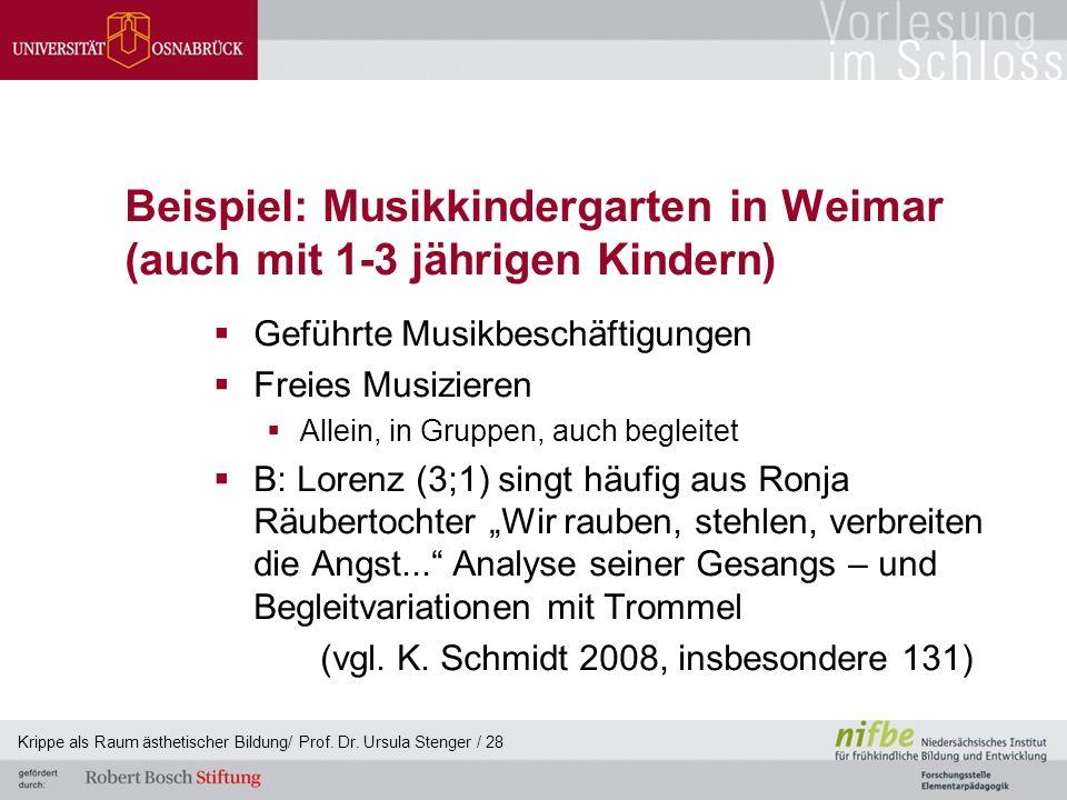 Beispiel: Musikkindergarten in Weimar (auch mit 1-3 jährigen Kindern)