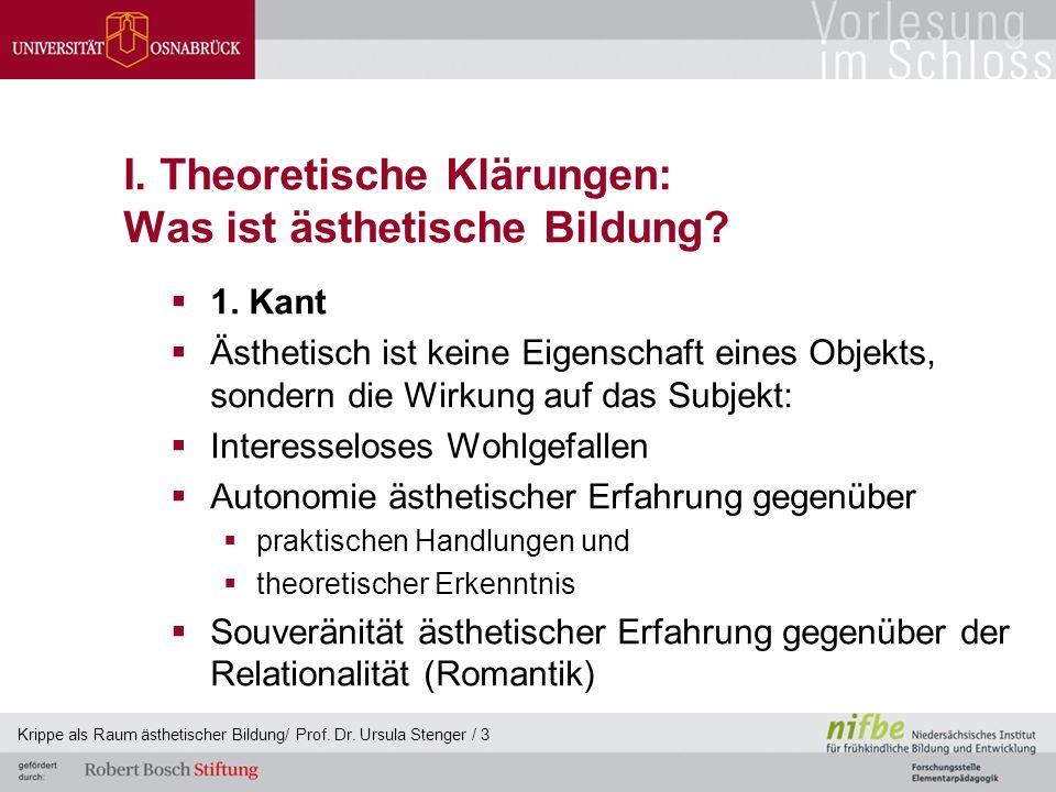 I. Theoretische Klärungen: Was ist ästhetische Bildung