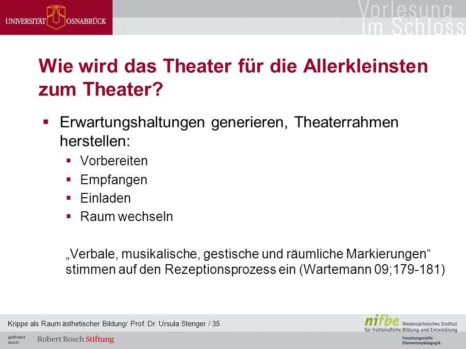 Wie wird das Theater für die Allerkleinsten zum Theater