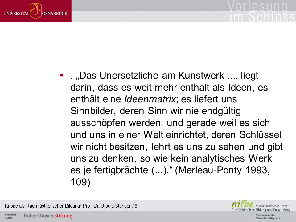 """""""Das Unersetzliche am Kunstwerk"""