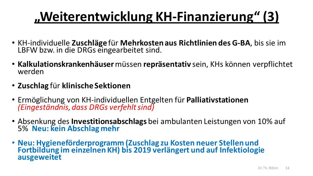 """""""Weiterentwicklung KH-Finanzierung (3)"""