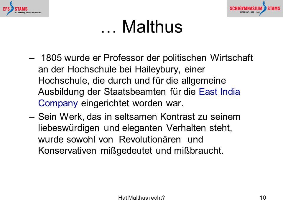 … Malthus