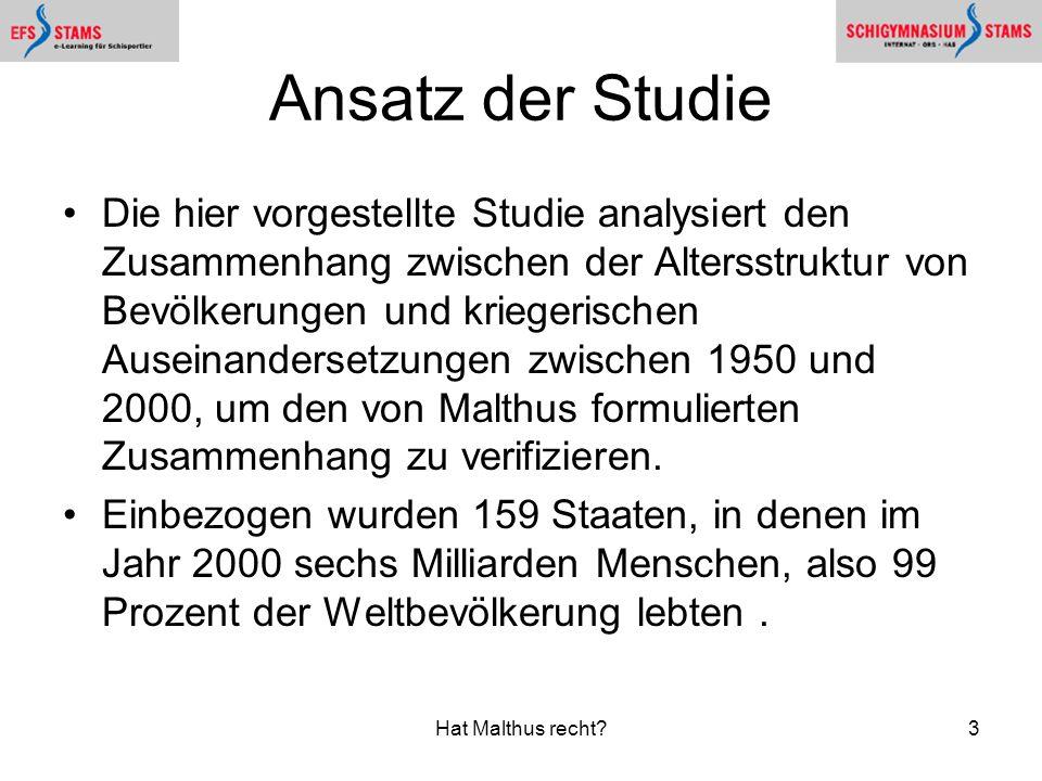 Ansatz der Studie
