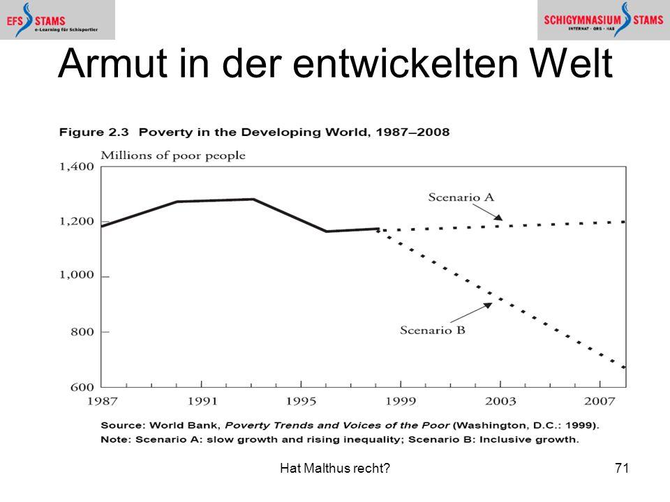 Armut in der entwickelten Welt
