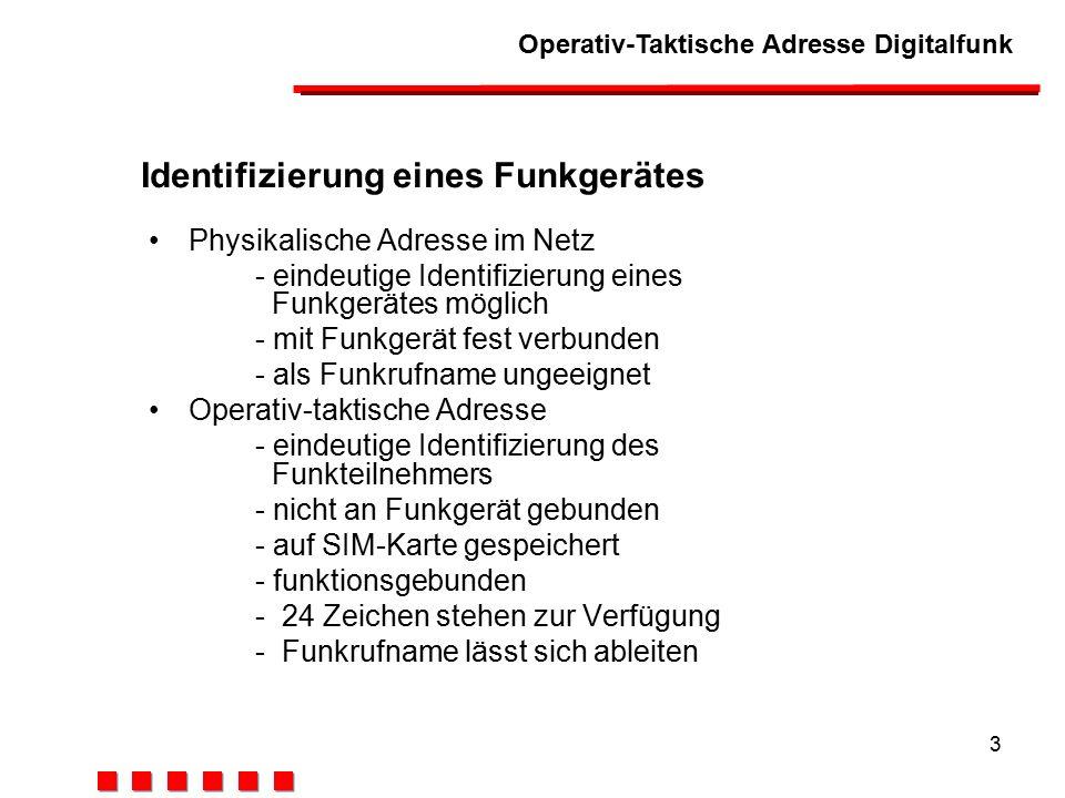 Identifizierung eines Funkgerätes