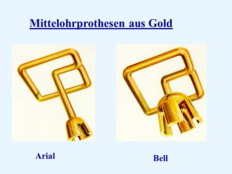 Mittelohrprothesen aus Gold