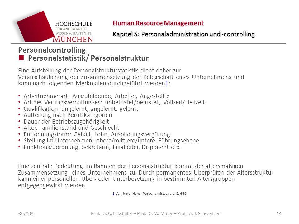 Personalstatistik/ Personalstruktur