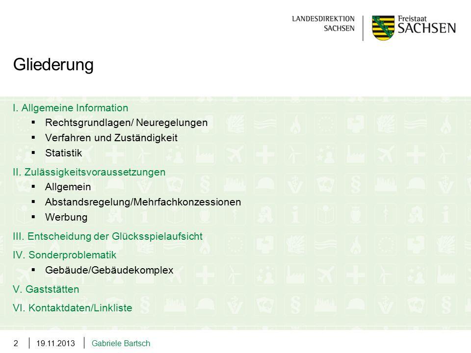 Gliederung I. Allgemeine Information. Rechtsgrundlagen/ Neuregelungen. Verfahren und Zuständigkeit.