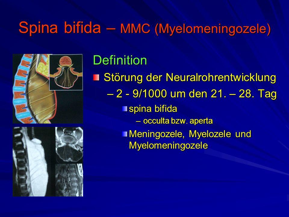 Spina bifida – MMC (Myelomeningozele)