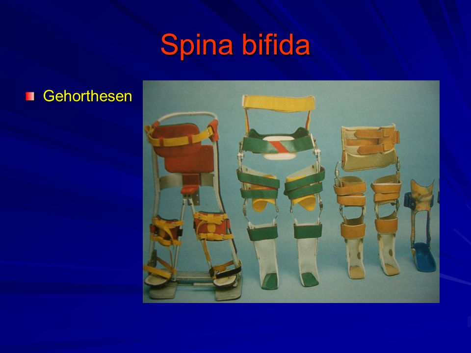 Spina bifida Gehorthesen