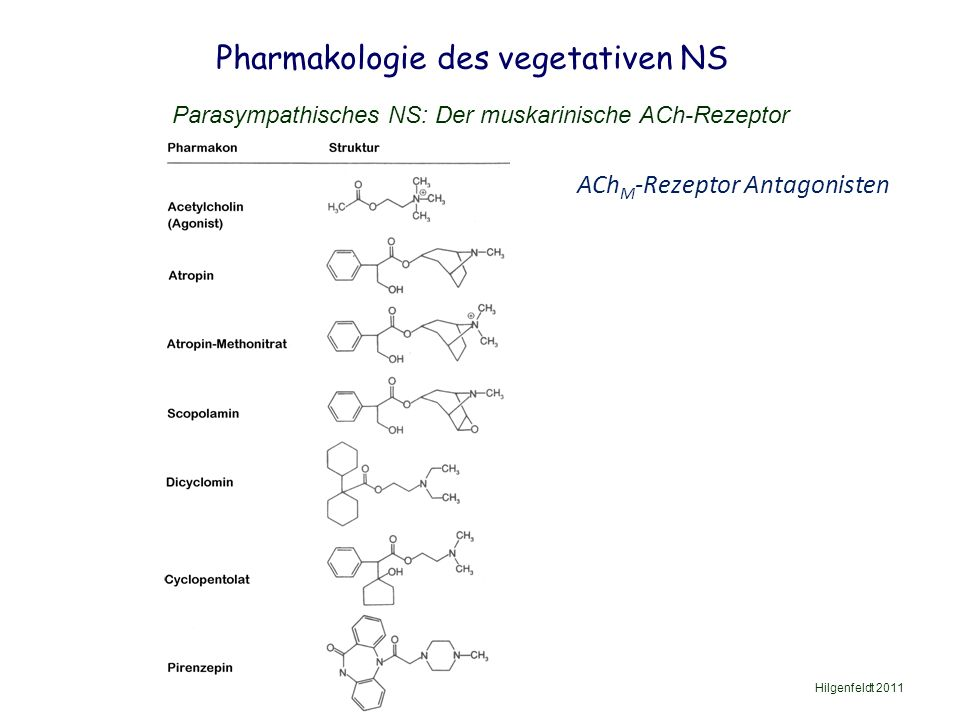 Pharmakologie des vegetativen NS