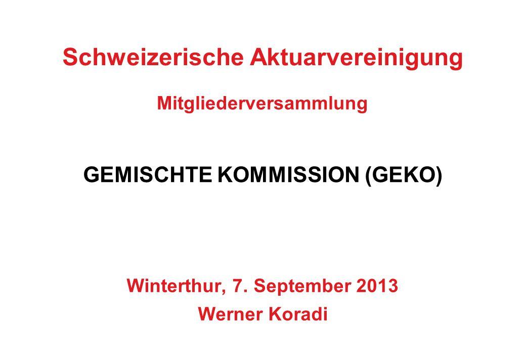 Schweizerische Aktuarvereinigung