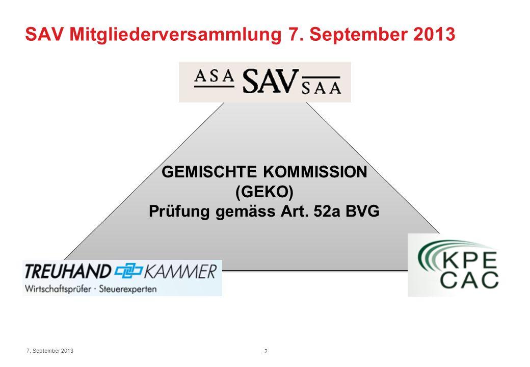 SAV Mitgliederversammlung 7. September 2013