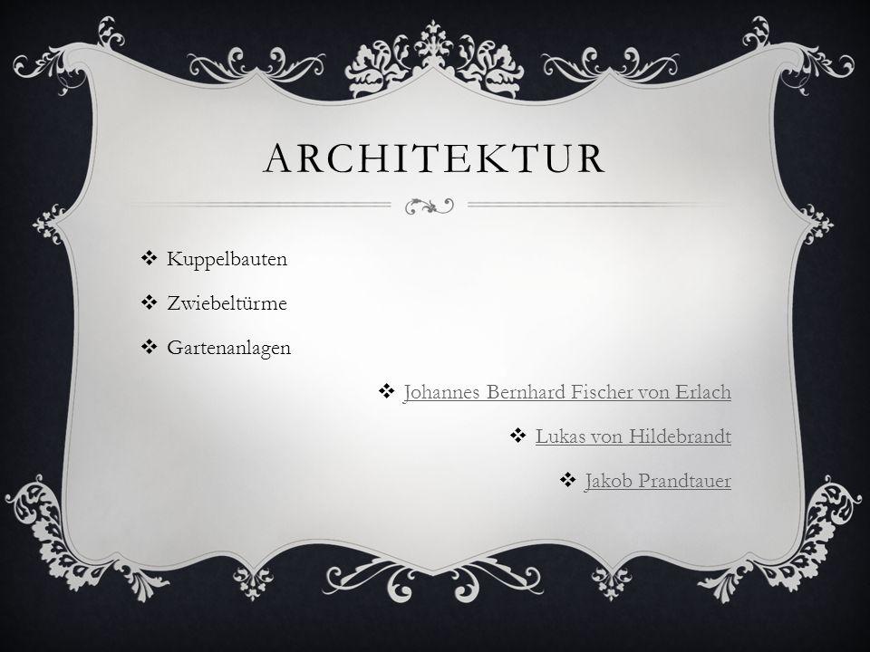 Architektur Kuppelbauten Zwiebeltürme Gartenanlagen
