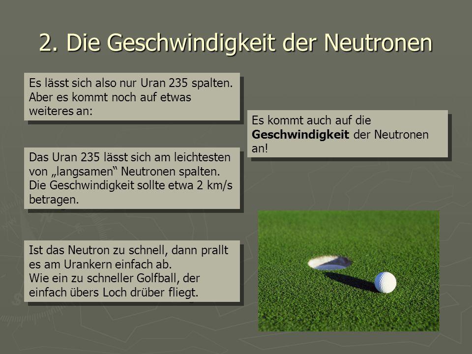 2. Die Geschwindigkeit der Neutronen
