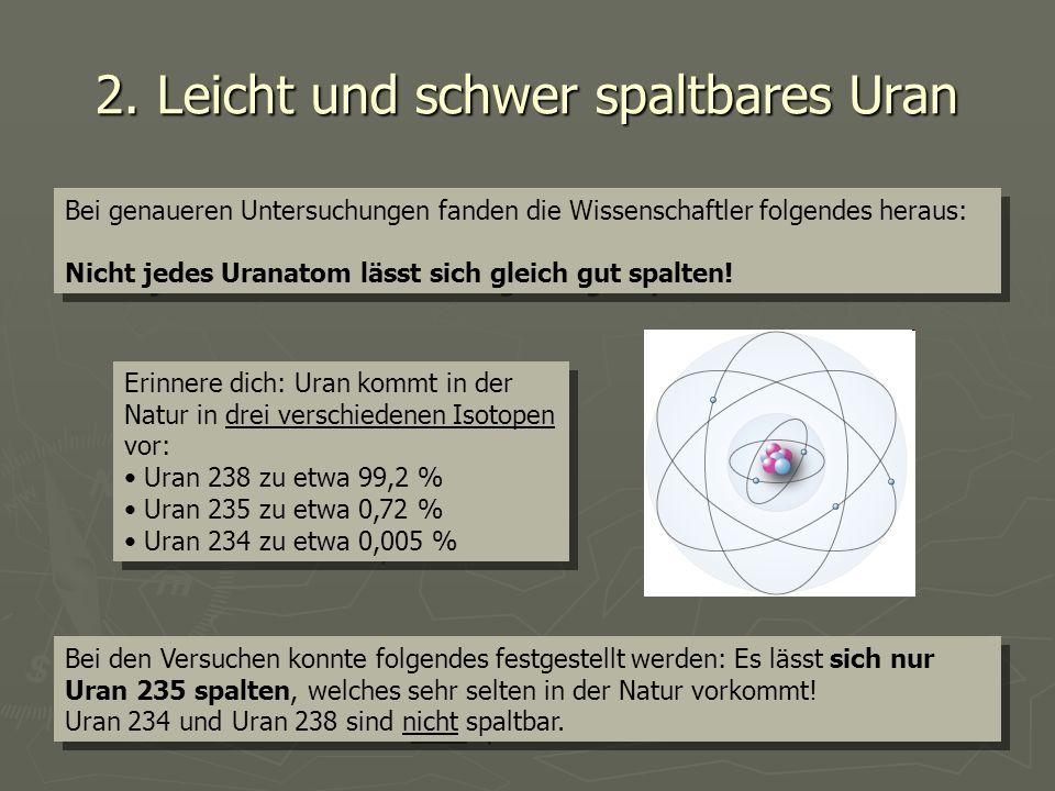 2. Leicht und schwer spaltbares Uran