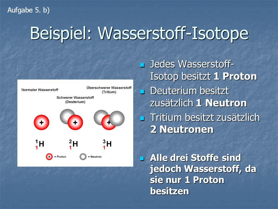 Beispiel: Wasserstoff-Isotope
