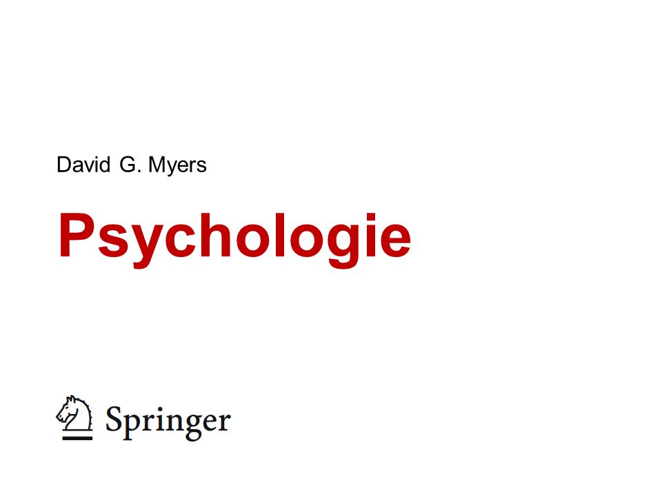 David G. Myers Psychologie