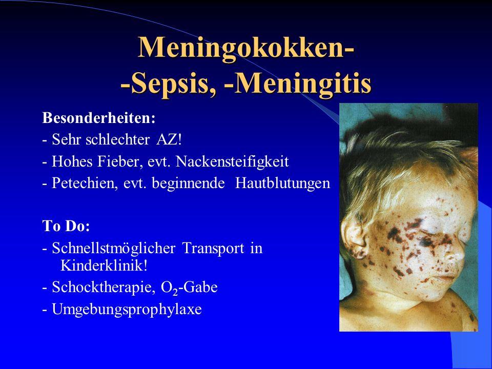Meningokokken- -Sepsis, -Meningitis