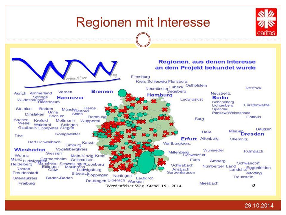 Regionen mit Interesse