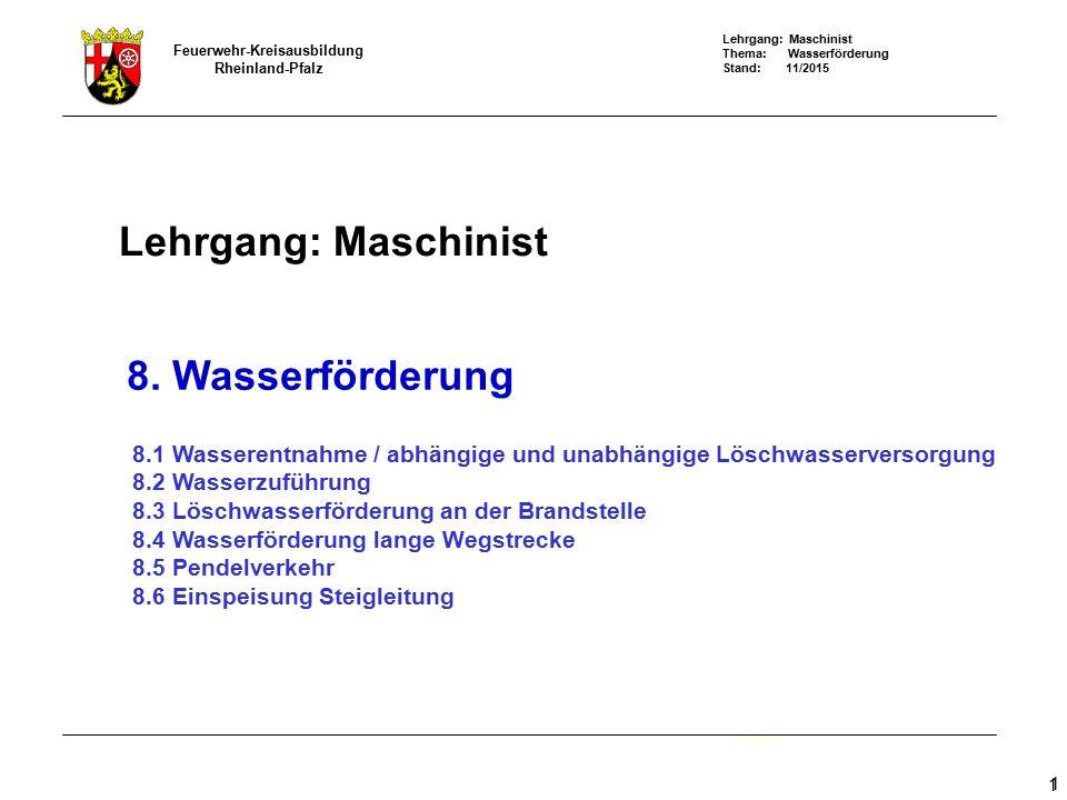 Lehrgang: Maschinist 8. Wasserförderung - ppt video online herunterladen