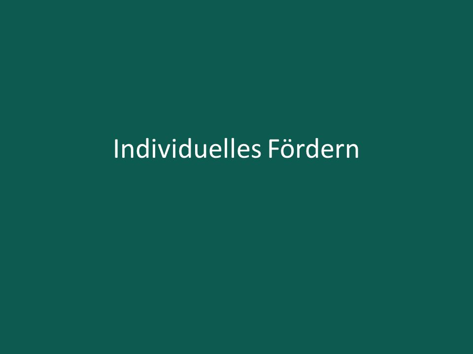 Individuelles Fördern