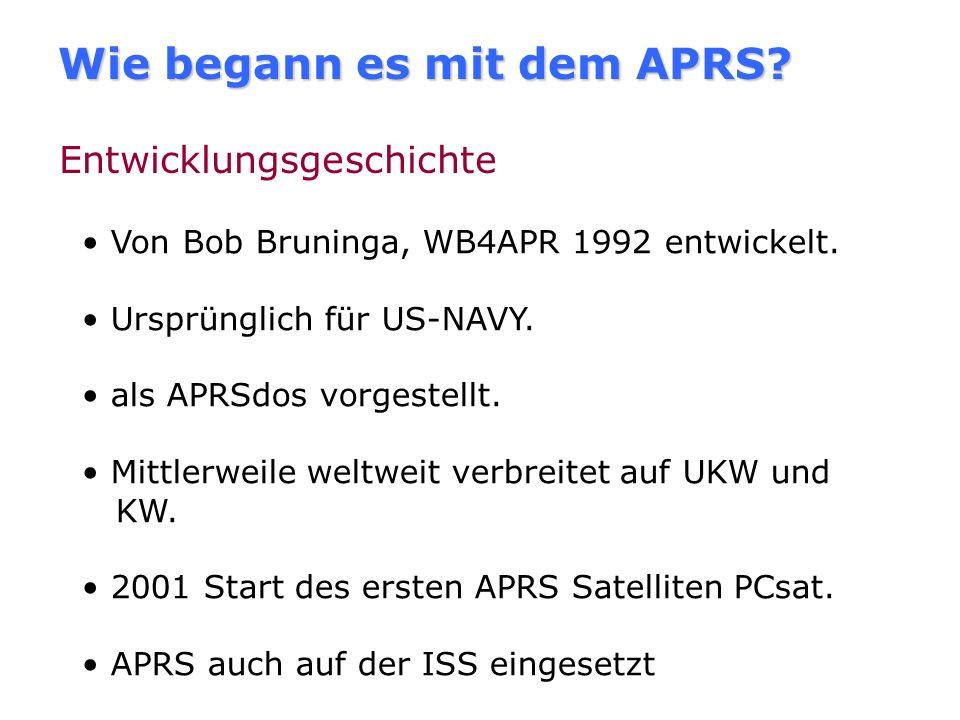 Wie begann es mit dem APRS