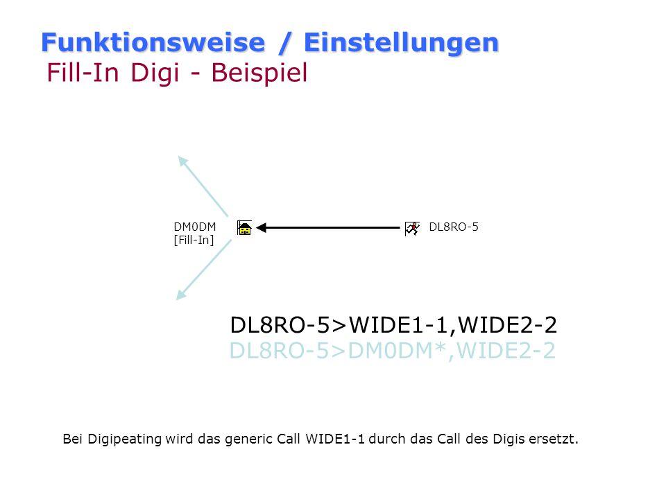 Funktionsweise / Einstellungen Fill-In Digi - Beispiel