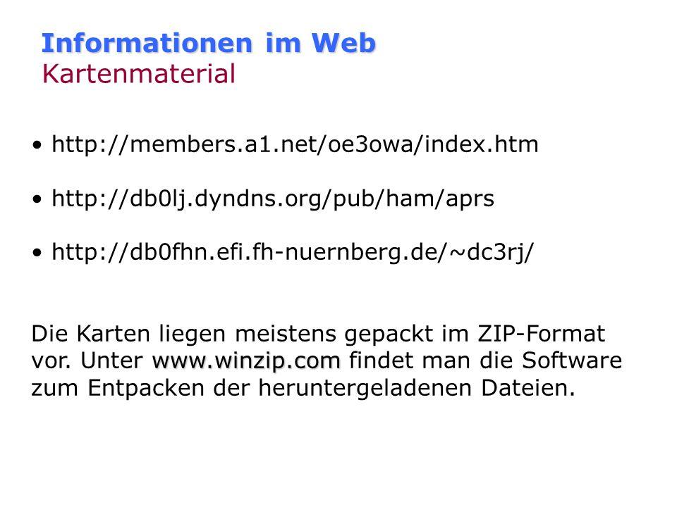 Informationen im Web Kartenmaterial