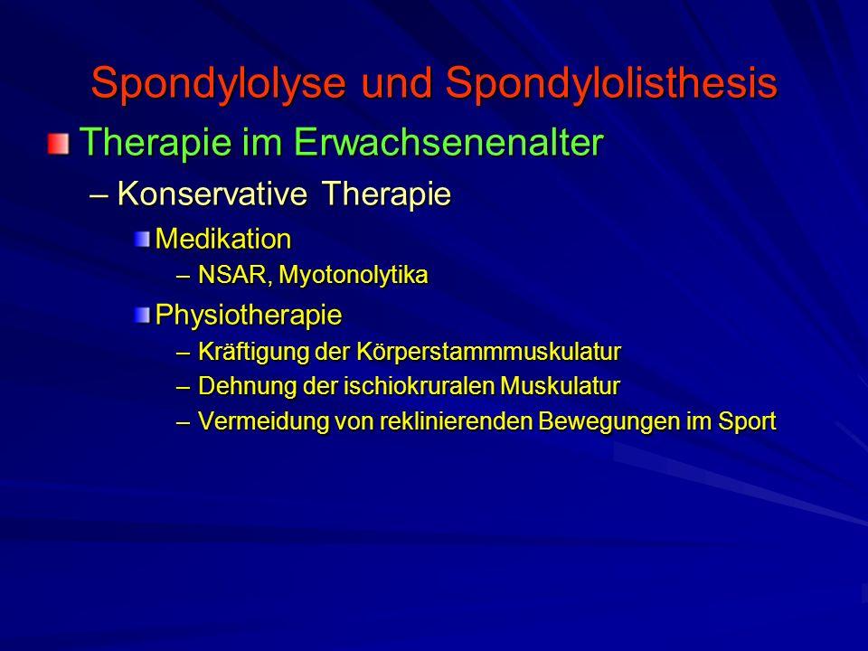 Spondylolyse und Spondylolisthesis
