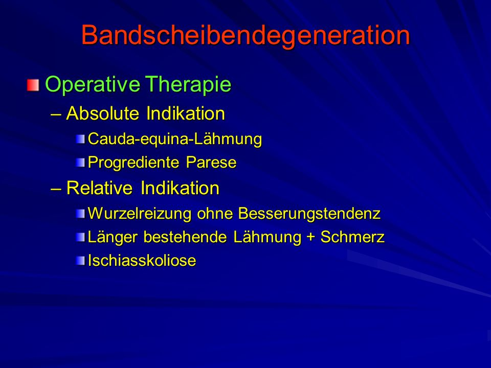 Bandscheibendegeneration