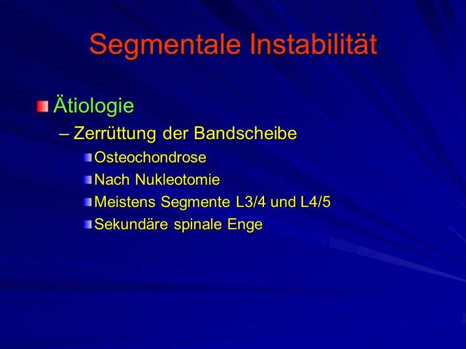 Segmentale Instabilität