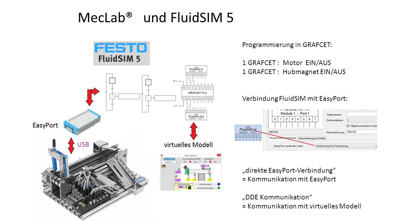 MecLab® und FluidSIM 5 Programmierung in GRAFCET: