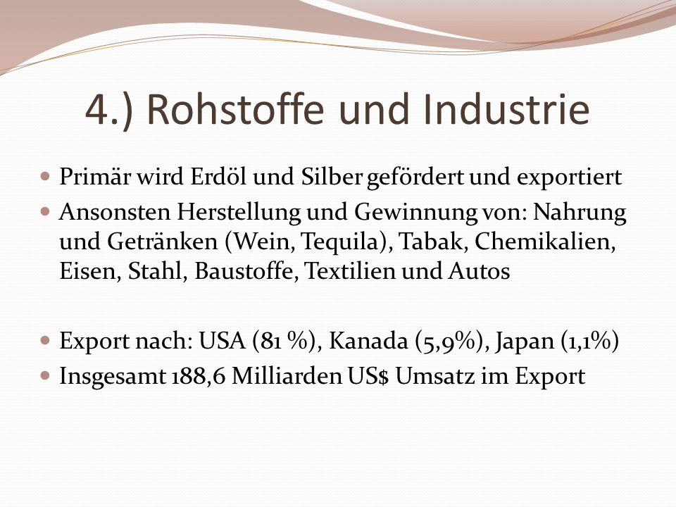 4.) Rohstoffe und Industrie