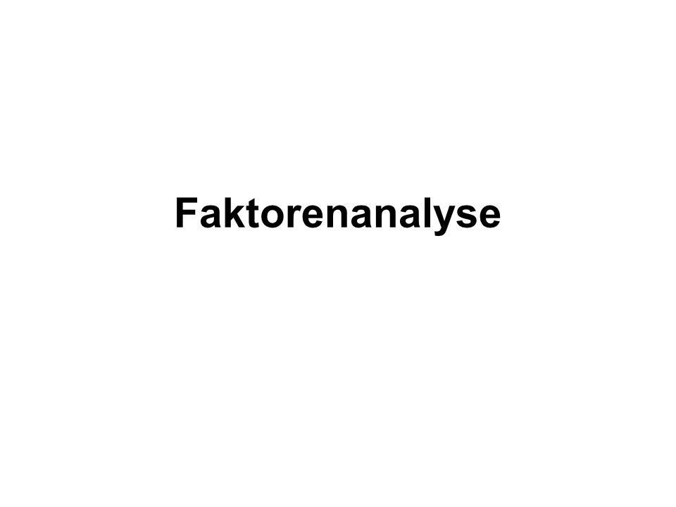 Faktorenanalyse