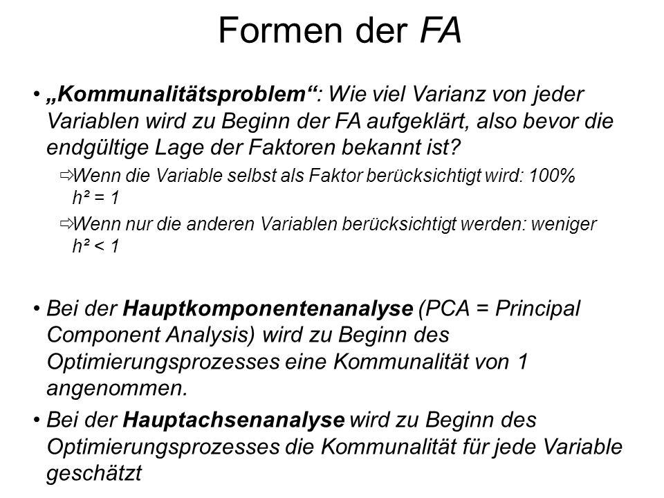 Formen der FA