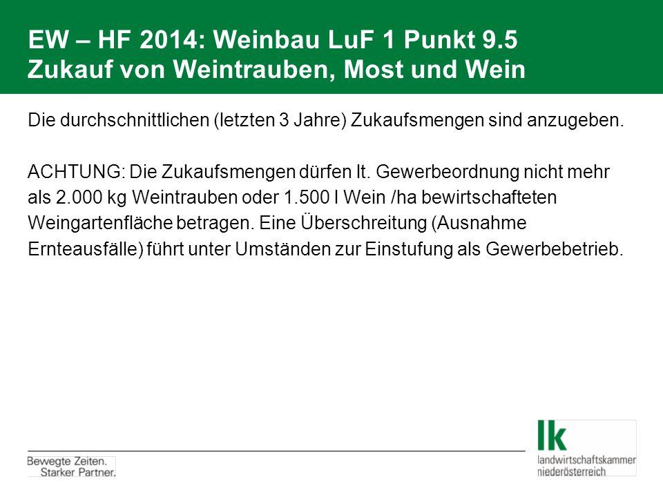 EW – HF 2014: Weinbau LuF 1 Punkt 9