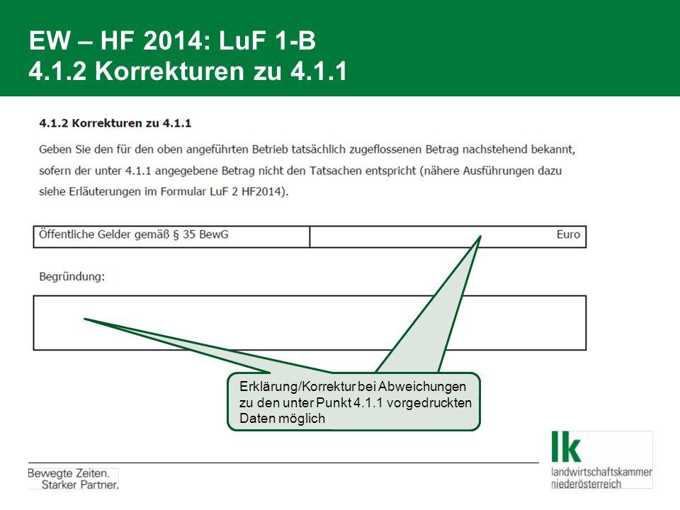 EW – HF 2014: LuF 1-B 4.1.2 Korrekturen zu 4.1.1