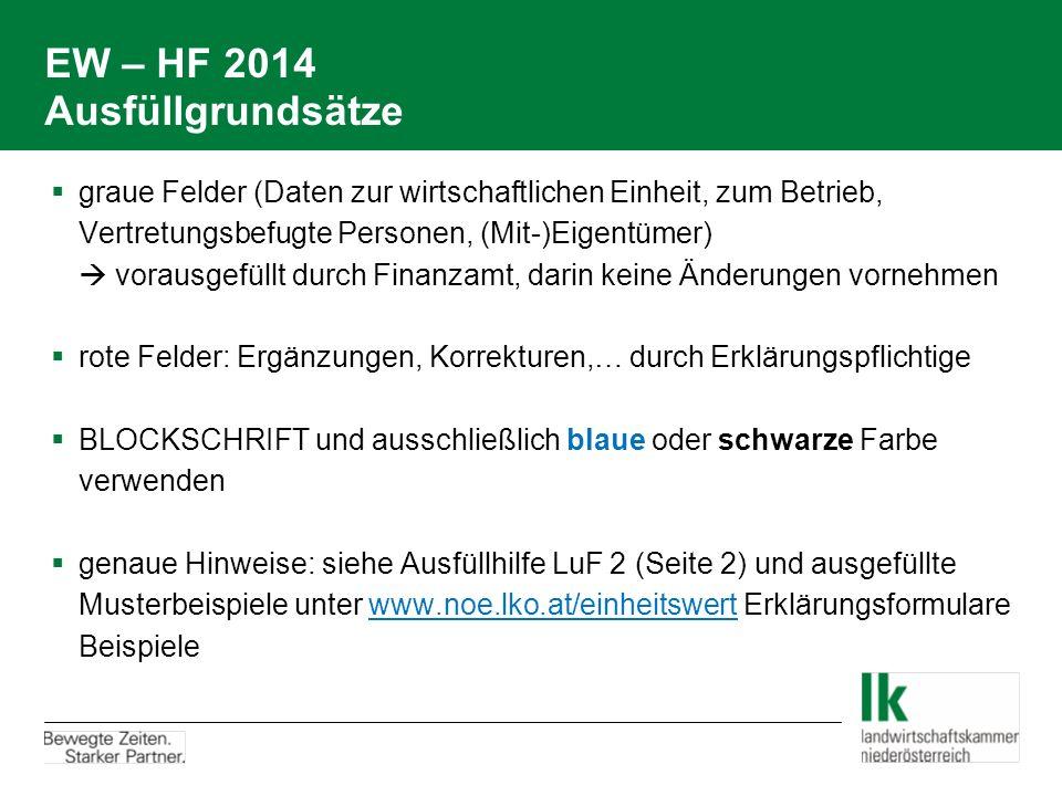 EW – HF 2014 Ausfüllgrundsätze