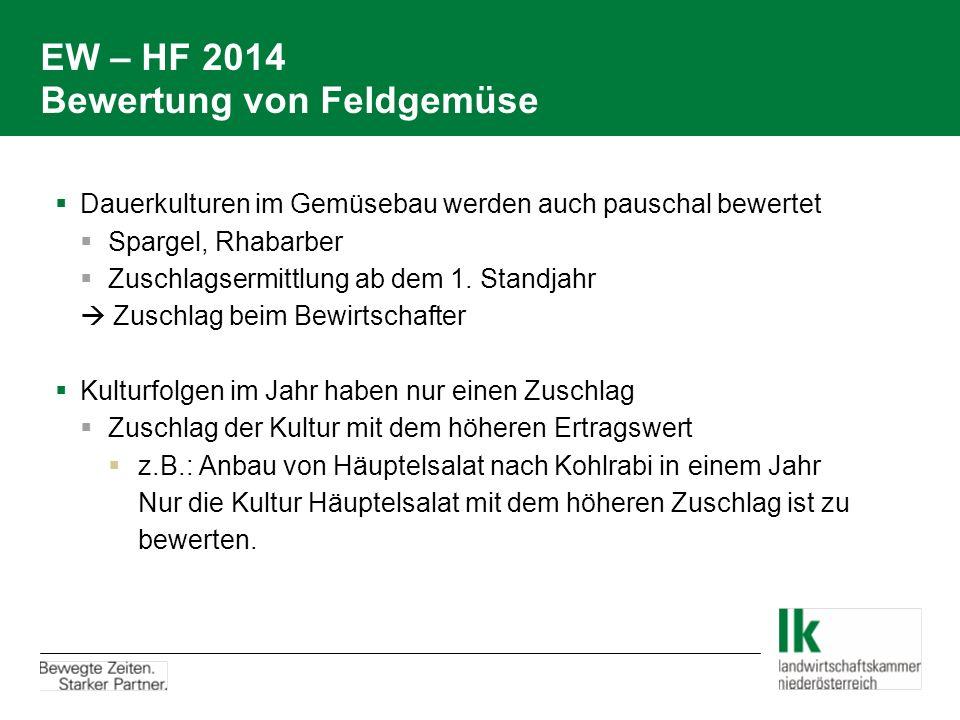 EW – HF 2014 Bewertung von Feldgemüse