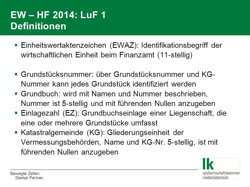 EW – HF 2014: LuF 1 Definitionen