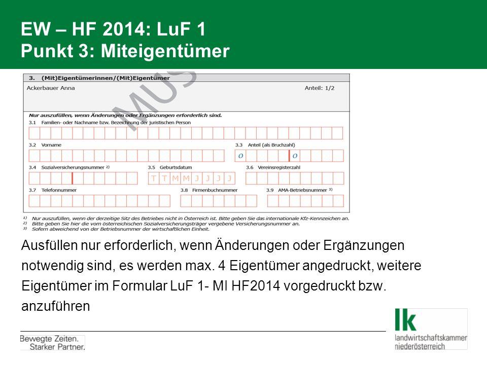 EW – HF 2014: LuF 1 Punkt 3: Miteigentümer