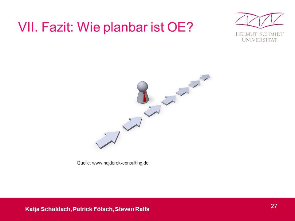VII. Fazit: Wie planbar ist OE