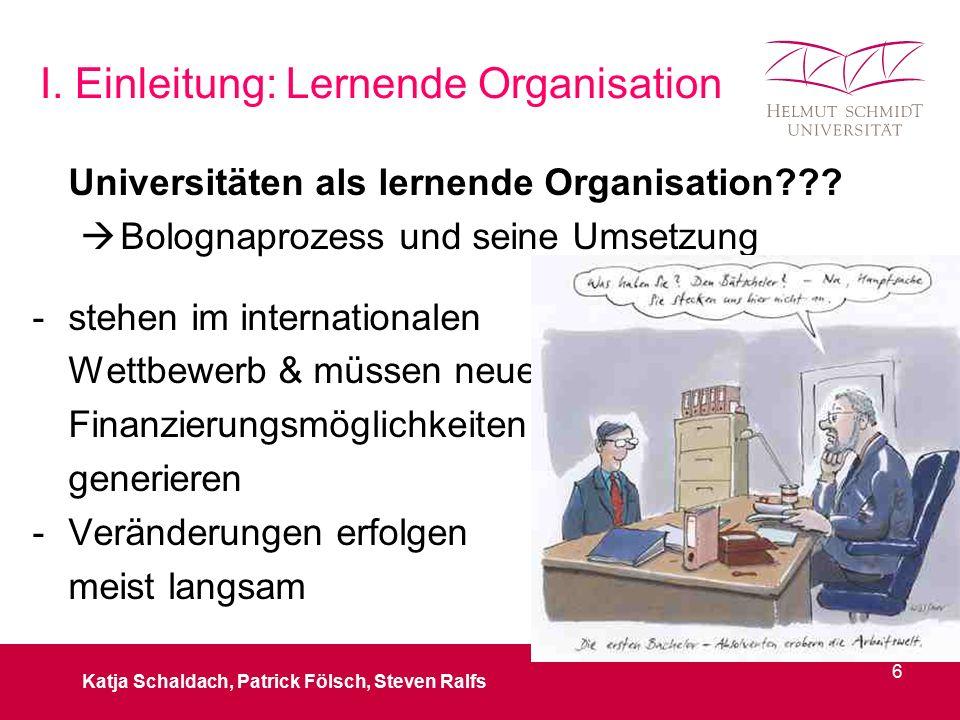 I. Einleitung: Lernende Organisation