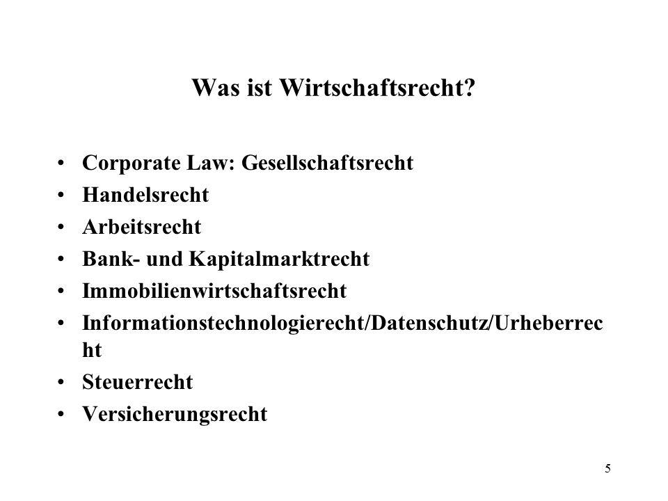 Was ist Wirtschaftsrecht